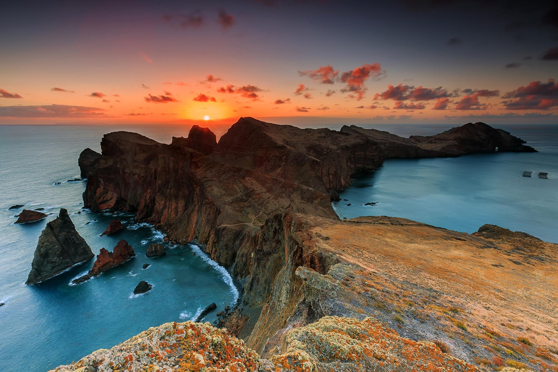 закат море горы скалы  № 1291256 без смс