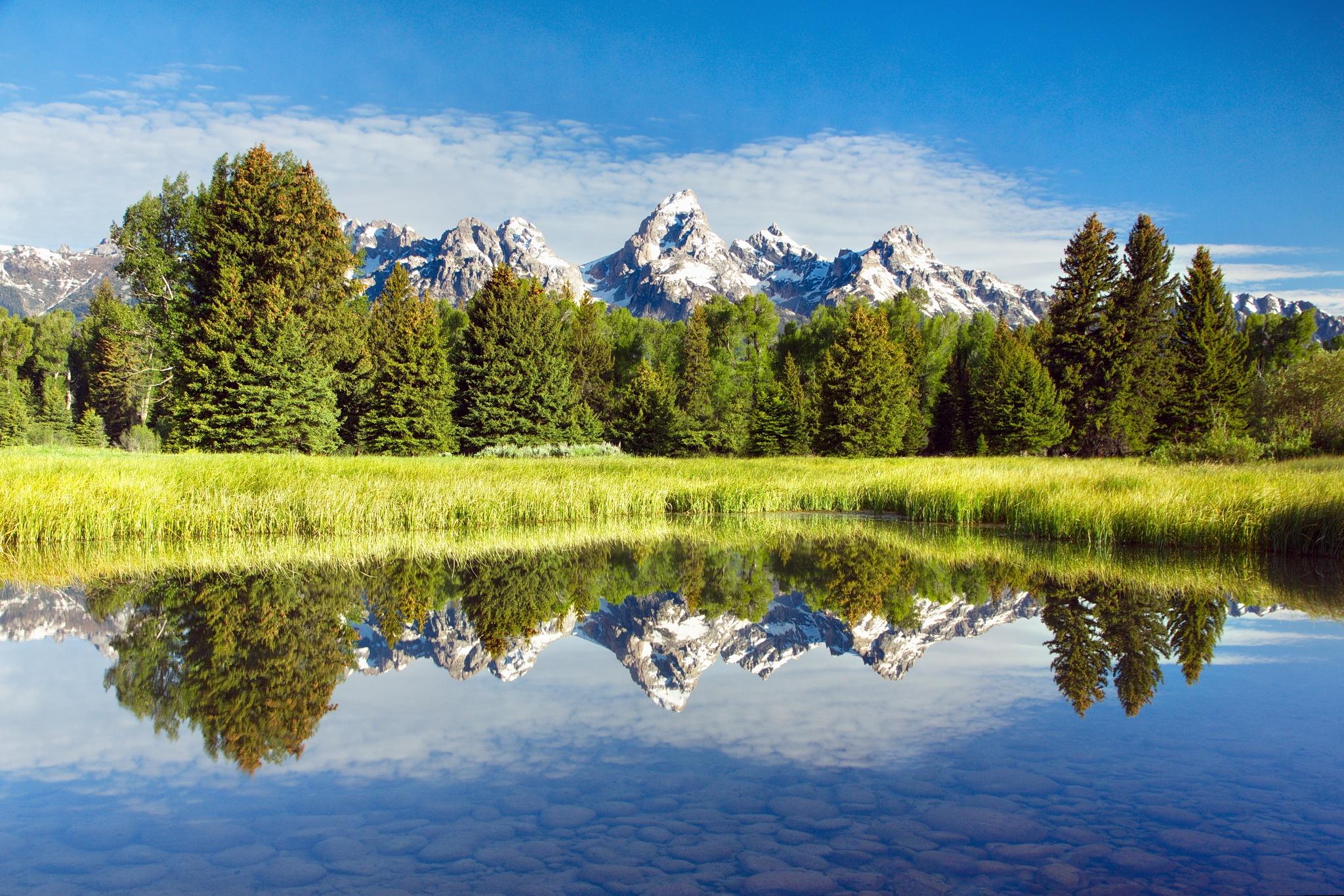 природа горы небо облака река деревья nature mountains the sky clouds river trees  № 1223830 бесплатно