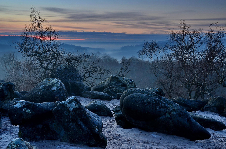 природа деревья камни небо  № 1601405 бесплатно