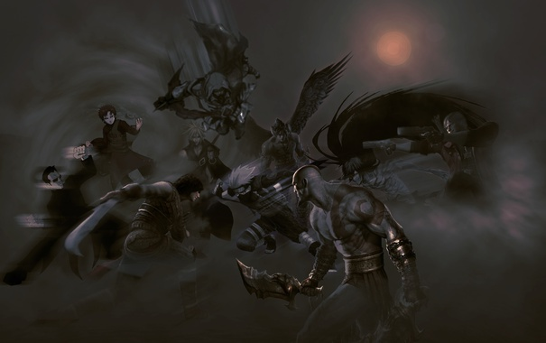 Фото обои арт, Prince of Persia, Kratos, God of War, Resident Evil, Assassin's Creed, персонажи игры
