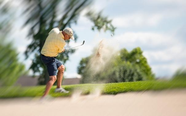 Фото обои спорт, удар, гольф