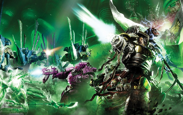 Фото обои Emperor's Children, warhammer 40K, Fulgrim, Iron Warriors, Horus Heresy Series, Eldars, Angel Exterminatus