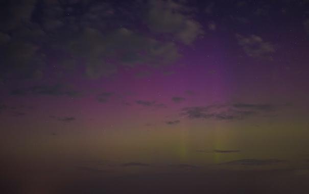 Фото обои небо, звезды, облака, ночь