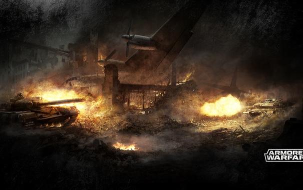 Фото обои танк, самолёт, tanks, CryEngine, mail.ru, Armored Warfare, Obsidian Entertainment