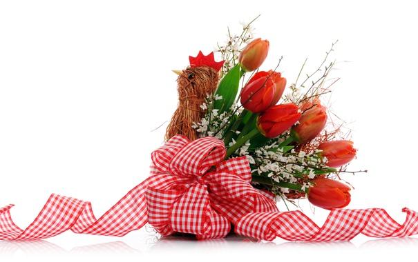 Фото обои тюльпаны, букет, цветы