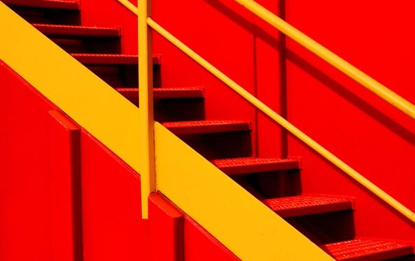 Фото обои металл, краски, лестница, ступени