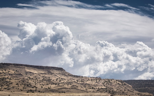 Фото обои облака, природа, пустыня, New Mexico