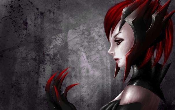 Фото обои девушка, рука, арт, профиль, League of Legends, Elise