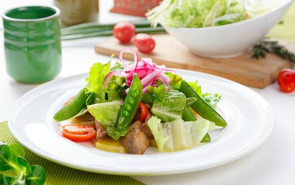 Фото обои горох, овощи, помидоры, салат