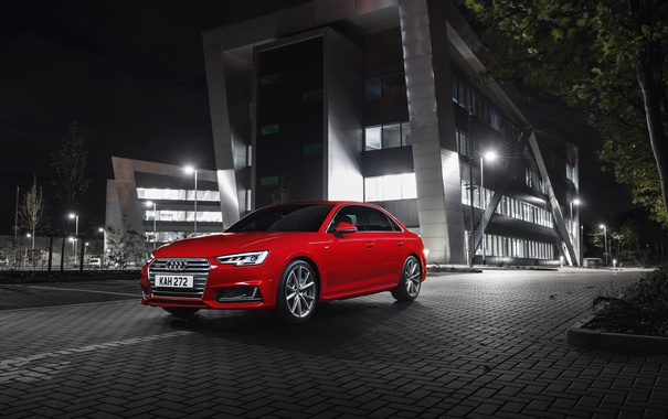 Фото обои Audi, ауди, красная, quattro, S line