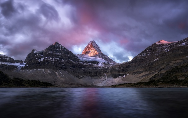 Фото обои Канада, вода, озеро, море, рассет, панорама, горы