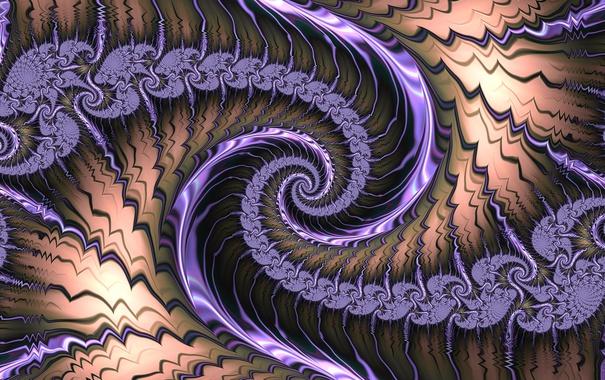Фото обои свет, узор, цвет, спираль, фрактал