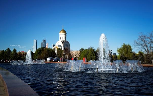 Фото обои фотограф, церковь, фонтан, photography, photographer, Александр Гринев