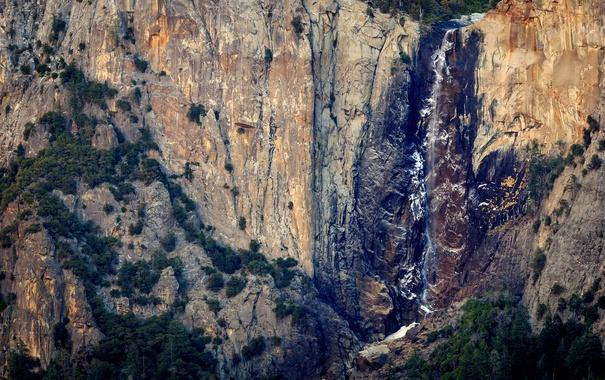 Фото обои национальный парк, водопад, скала, природа