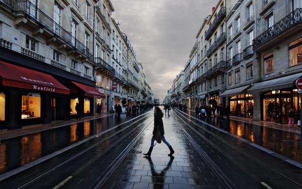 Фото обои люди, Франция, тень, быт, ходьба, Бордо