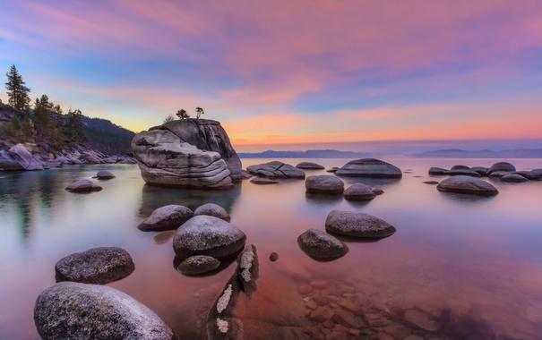 Фото обои природа, камни, скалы, национальный парк, озеро Тахо