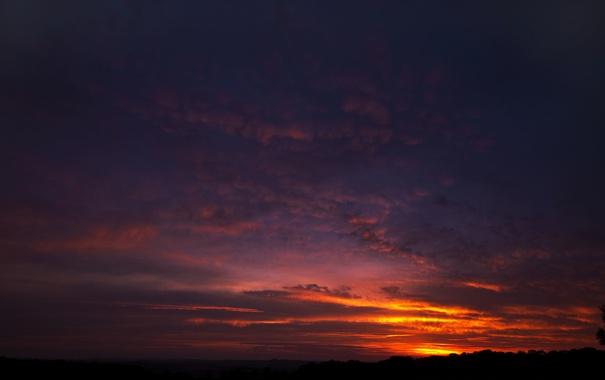 Фото обои природа, облака, небо, горизонт, пейзаж, закат