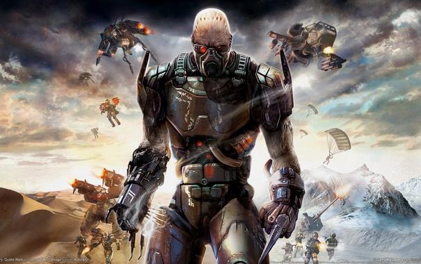 Фото обои война, инопланетянин, Enemy Territory: Quake Wars, quake