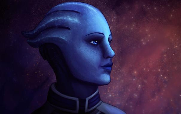 Фото обои Mass Effect, liara, asari, Liara T'Soni, scientist