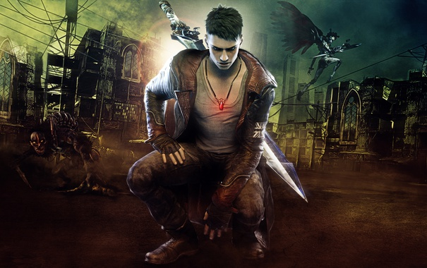 Фото обои DmC, Video Game, Dante, Devil May Cry, Background, Demons Scum, Demons