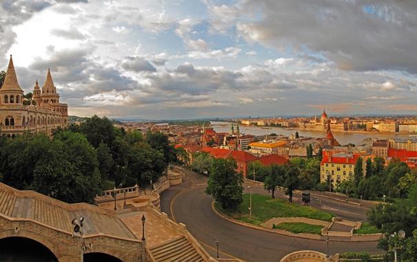 Фото обои город, фото, дороги, дома, лестница, Венгрия, Budapest