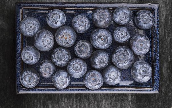Фото обои ягоды, черника, fresh, blueberry, голубика, berries