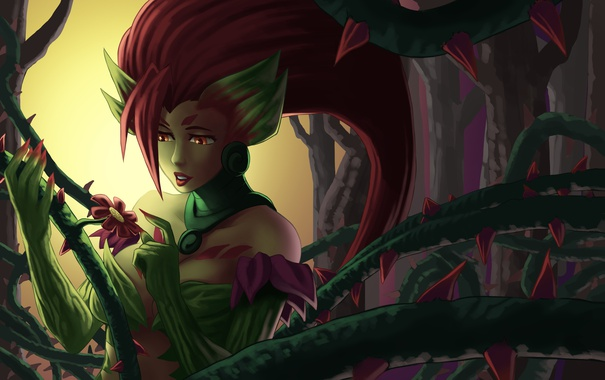 Фото обои Rise of the Thorns, League of Legends, Zyra