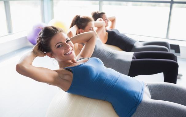 Фото обои girls, sexi, leggins, training, Fitness