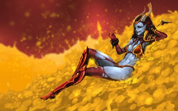 Фото обои Valve, DOTA 2, Queen of Pain, Action RTS