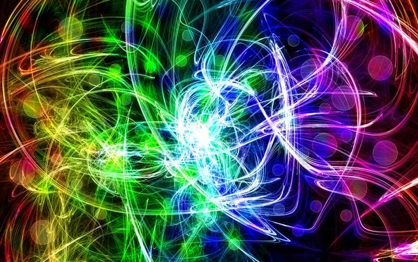 Фото обои свет, линии, узор, цвет, фрактал