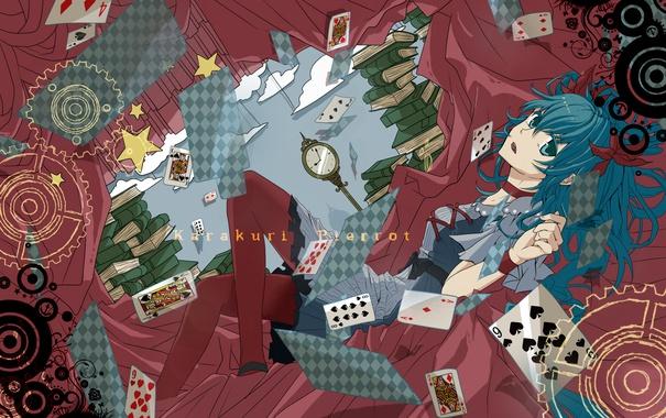 Фото обои карты, девушка, книги, арт, vocaloid, hatsune miku, suzuya