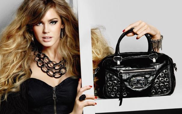 Фото обои девушка, модель, сумка, Vanessa Hessler, Ванесса Хэслер