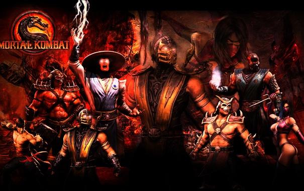 Фото обои lu kang, shao kahn, Scorpions, Mileena, Sub Zero, Mortal Kombat, Raiden