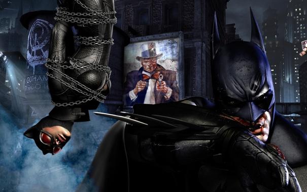 Фото обои цвета, batman, ps3, Batman Arkham City, color, xbox 360, catwoman