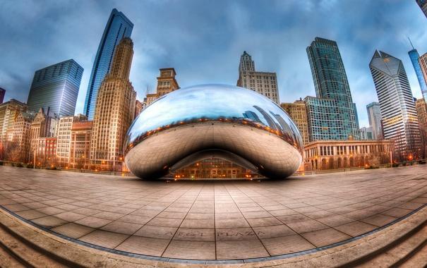 Фото обои city, USA, Chicago, Illinois, Millennium Park