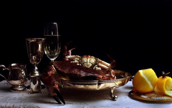 Фото обои Still Life, Crabs, Silverwear