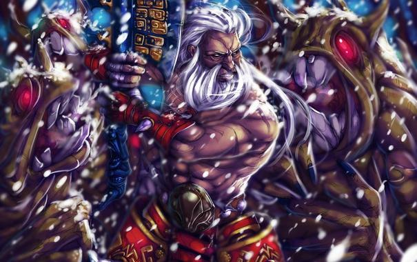 Фото обои sword, fight, warrior, fury