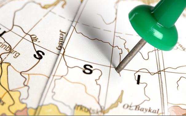 Фото обои Russia, political map, pin