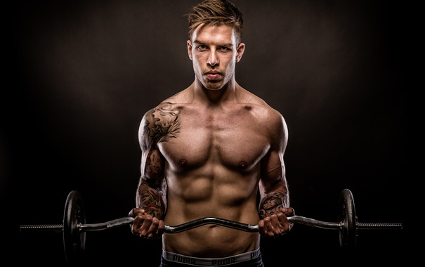 Фото обои fitness, muscles, power, tattoos
