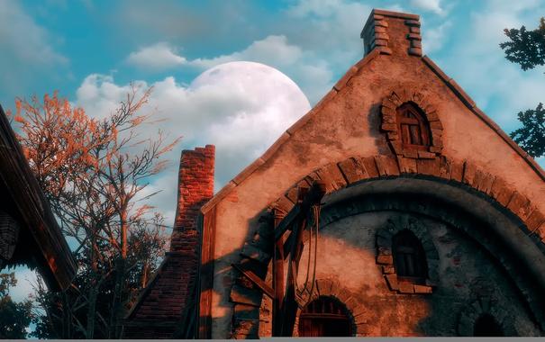Фото обои Ведьмак, The Witcher-3:Wild Hunt, Rising moon
