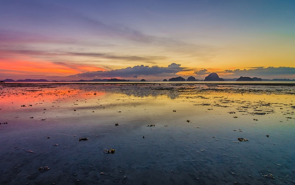 Фото обои beach, ocean, sunset, thailand, krabi