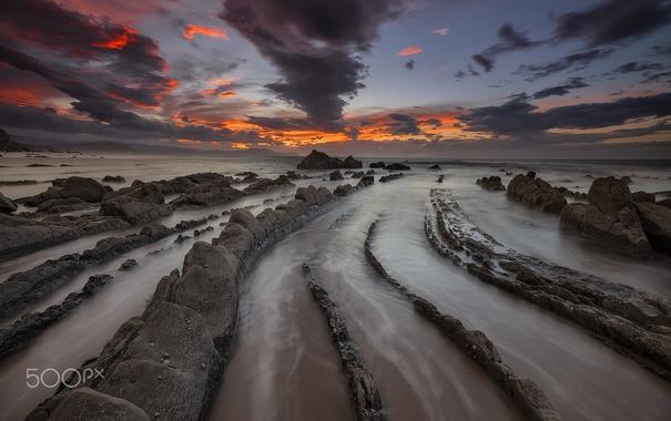 Фото обои море, природа, камни, скалы, Испания
