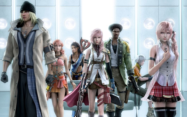 Фото обои Sarah, Final Fantasy XIII, Lightning, Snow, Vanille, Hope, FF13