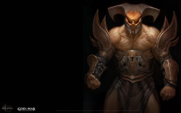 Фото обои wallpaper, game, Sony, armor, God of War, man, PS3