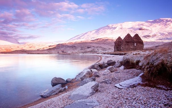 Фото обои небо, природа, озеро, Шотландия, Scottish, Loch Assynt