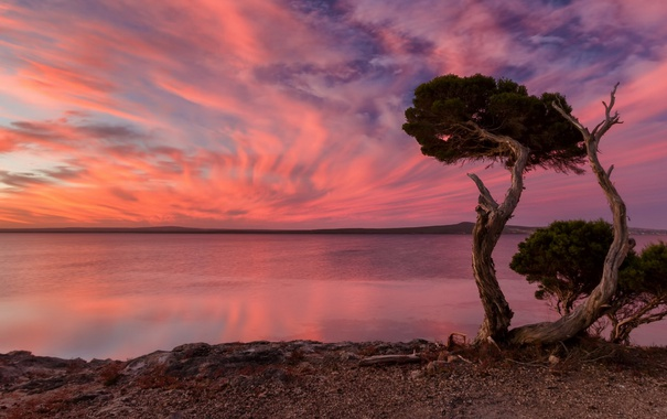 Фото обои пейзаж, закат, Port Lincoln National Park