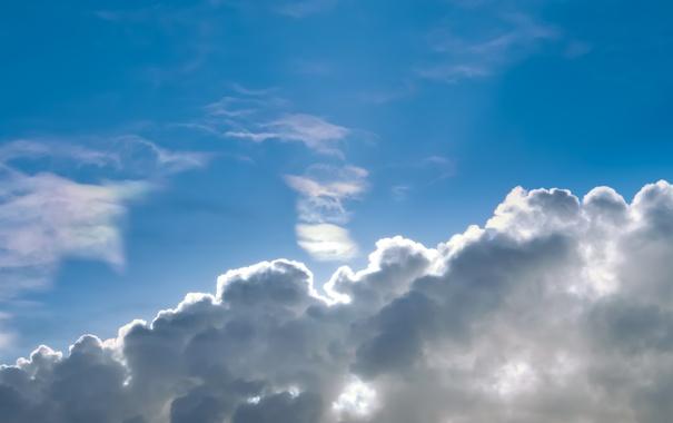 Фото обои небо, облака, лучи, свет, тень, облако, godrays