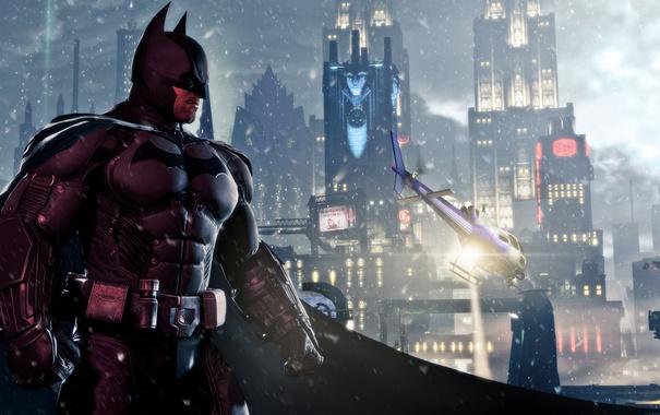 Фото обои Брюс Уэйн, Batman Arkham Origins, Готэм Сити