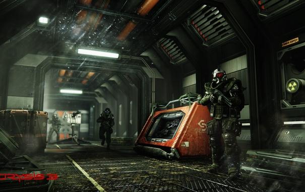 Фото обои Crysis, Game, Weapon, Crysis 3, Soldier, SCI Fi, CryEngine