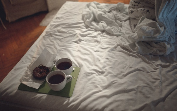 Фото обои кофе, фотограф, постель, photography, photographer, KikiBoy